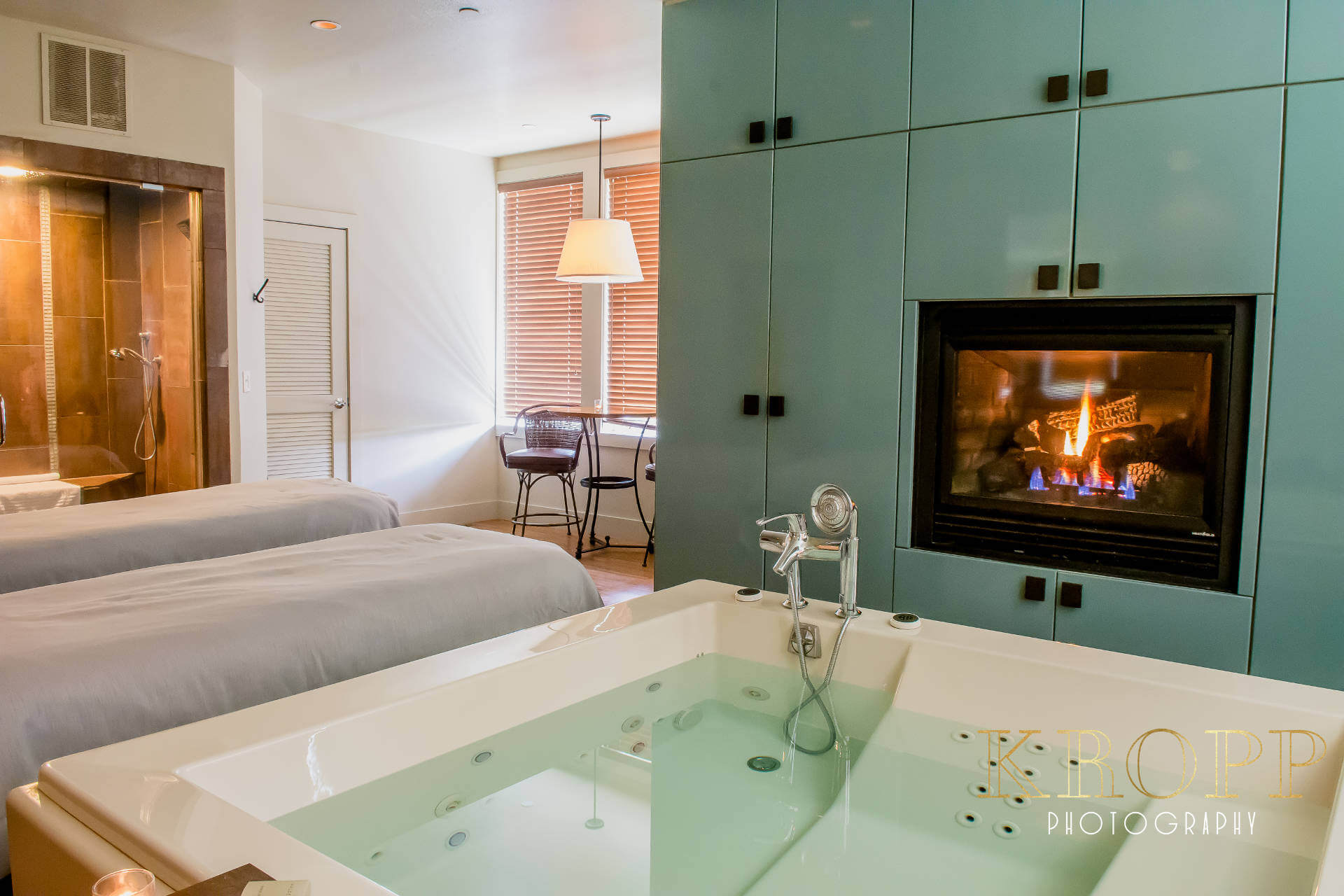Gorgeous Couples Room at Spa Walden in Aurora Ohio   Kropp Photography