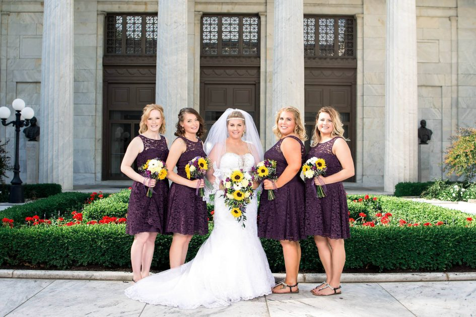 Bride and Bridesmaids at Mckinley Presidential Library & Museum | Kropp Photography - Wedding Photography Portfolio