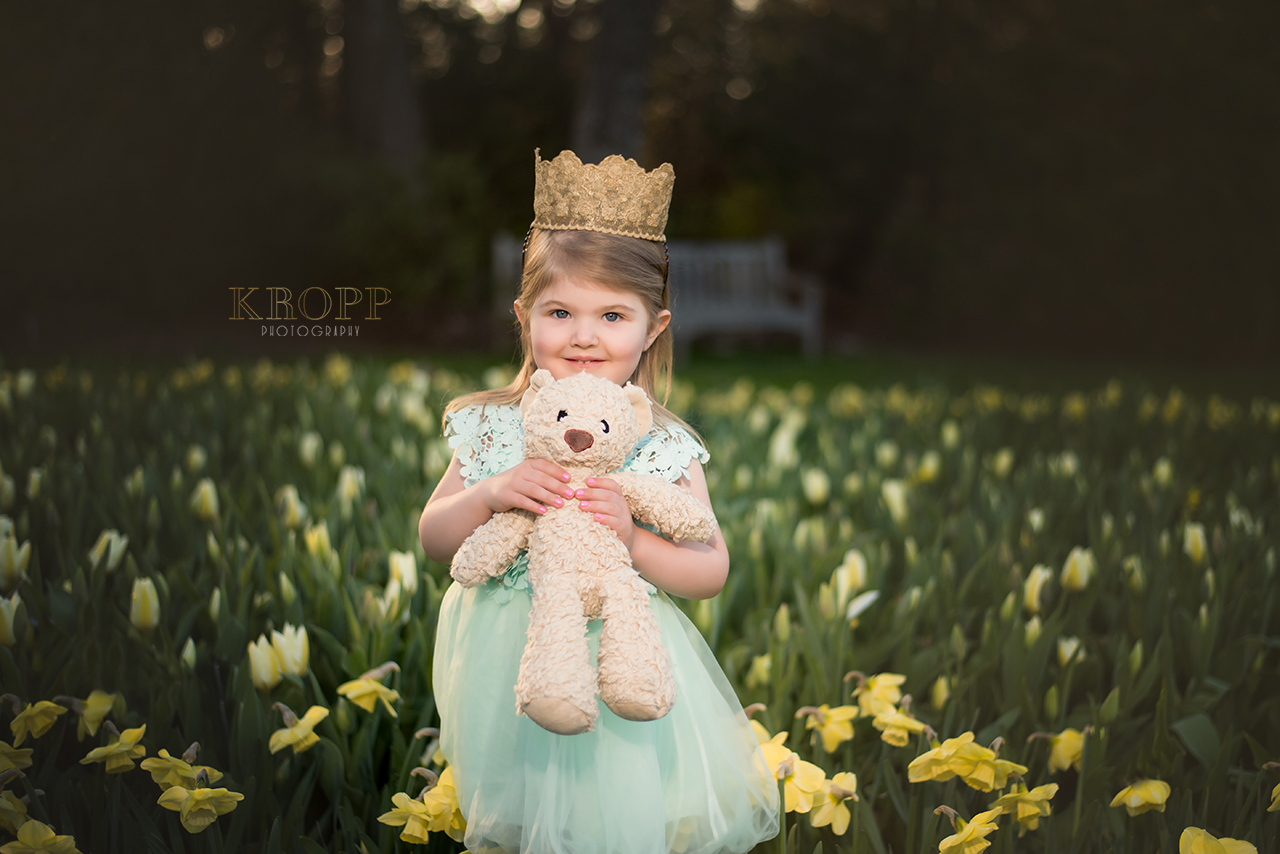 Princess Birthday Photos at Fellows Riverside Garden in Youngstown Ohio