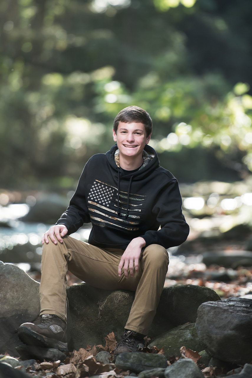 Senior Boy Portrait in Mill Creek park in Youngstown Ohio