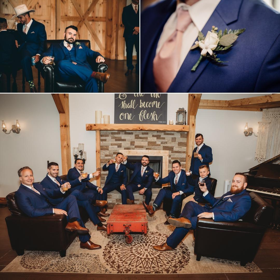 David + Maria | Wedding at The Place At 534 | Groom and Groomsman