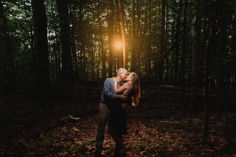 Lara + Karl | Rocky River Reservation Engagement Session in the Woods