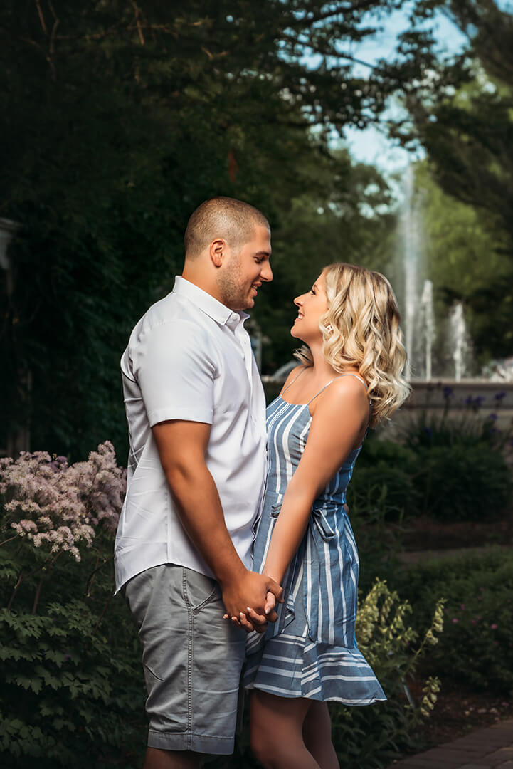 Mill Creek Park engagement photos at Fellows Riverside Gardens with Meghan and Mike