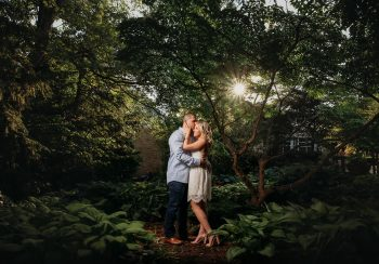 Mill Creek Park engagement photos with gorgeous young couple