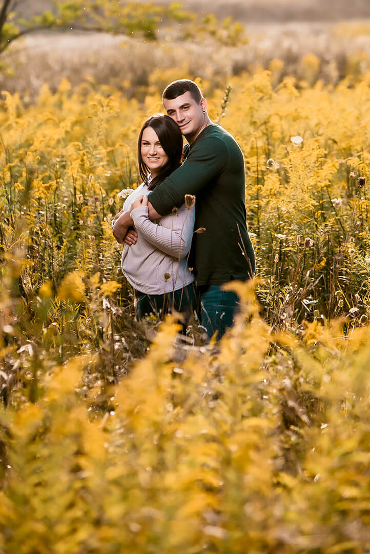 Engagement photos of couple at Headlands Beach State Park