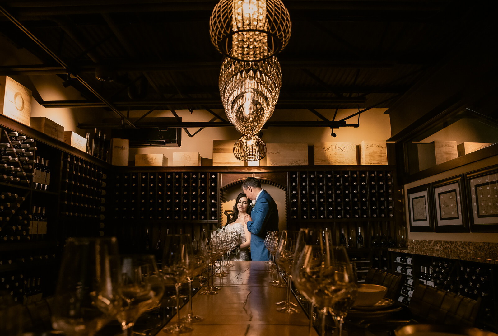 inside the private wine room at Sapphire Creek Winery & Gardens